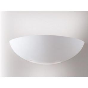I-SESTRIERE-AP Applique SESTRIERE mezza luna bianco moderno a parete in gesso 1xE27 max 40W