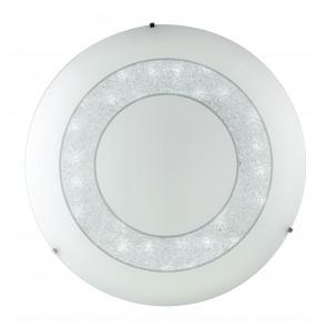 I-DIADEMA/PL35R Plafoniera da soffitto o parete Diadema  circolare in vetro decorato con cristalli K9 dm 35 cm