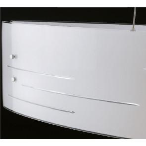 I-CHARME/PL35 Plafoniera da parete o soffitto Charme quadrato in vetro decorato bianco e incisioni trasparenti 35 Hx 35L Led 28