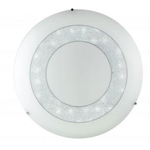 I-DIADEMA/PL55R Plafoniera da soffitto o parete Diadema  circolare in vetro decorato con cristalli K9 dm 55 cm