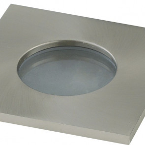 INC-VIPER-Q-NIK Struttura da incasso VIPER per lampada GU10 quadra fissa Nickel IP65 82x82 mm