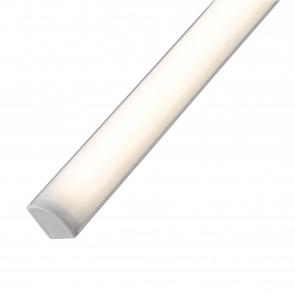 LEDBAR-UNIX-45 ANG Barra led sotto pensile UNIX angolare in alluminio cm 45L X 2,2h X 1,6P bianco con diffusore in policarbonato