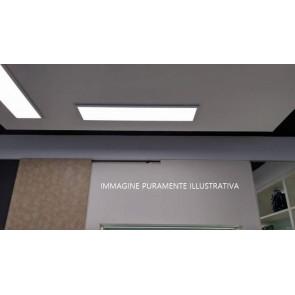 LED-PANEL-30X120-SENS Pannello led PANEL rettangolare lampada soffitto in alluminio 30x120 con sensore LUX per illuminazione din