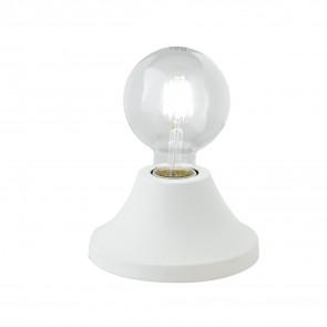 Lume da tavolo Vesevus in metallo bianco satinato dm 15 cm lampada a vista