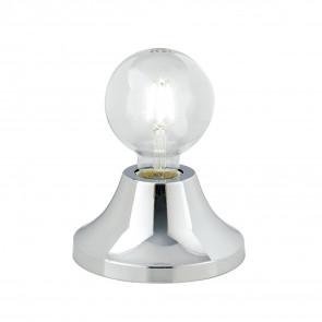 Lume da tavolo Vesevus in metallo cromo satinato dm 15 cm lampada a vista
