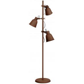 Lume da tavolo Legend bronzo in metallo corten e finiture rame design industriale