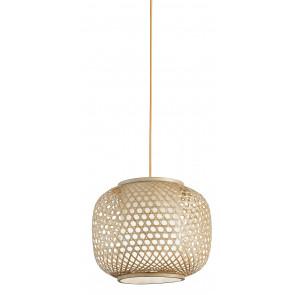 Lampadario a soffitto sospensione ZEN in bamb naturale tondo una luce h 110 cm