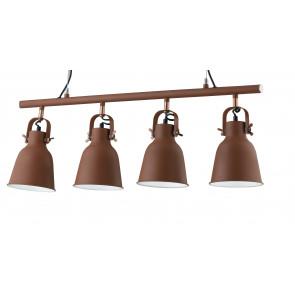 Lustre suspendu 4 lumières bronze...