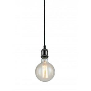 Lampadario a soffitto sospensione Vintage Groove design moderno in alluminio colore nero
