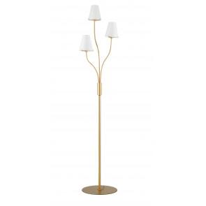 Piantana Canto design classico in metallo oro e diffusori in vetro bianco h160 cm