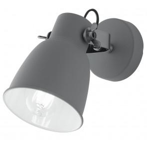 Applique da parete Legend grigio in metallo e interno bianco finiture nike design industriale