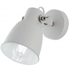 Applique da parete Legend bianco in metallo bianco e finiture nikel design industriale