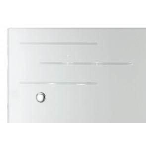 Applique da parete Charme rettangolare in vetro decorato bianco e incisioni trasparenti 20 Hx 30L Led 18 W