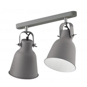 Applique da parete Legend grigio in metallo e interno bianco finiture nike design industriale 2 luci