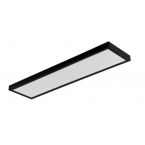 Struttura in metallo per montqggio plafoniera per serie PANEL  nero 30X120 cm