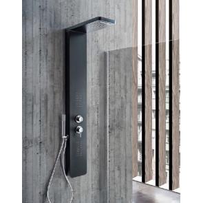 Colonna doccia idromassaggio VERONA in alluminio verniciato nero