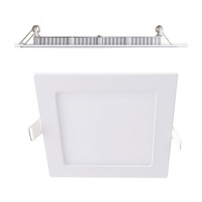 INC-FLAP/8WM - Faretto a Incasso Alluminio Quadrato Bianco Opaco Cartongesso Led 8 watt Luce Naturale