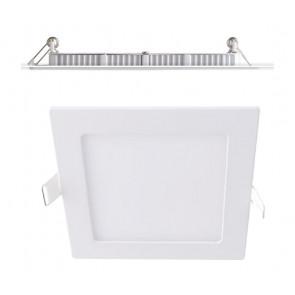 INC-FLAP/18WC - Faretto Quadrato Alluminio Bianco Opaco Incasso Cartongesso Led 18 watt Luce Calda