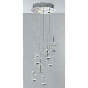 Plafonnier Fleurs en métal en cristal K9 Lampe intérieure LED 21 watts GU10 Lumière naturelle