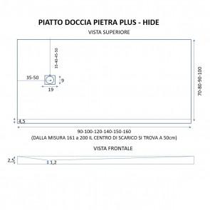 Piatto Doccia PIETRA PLUS marmo resina