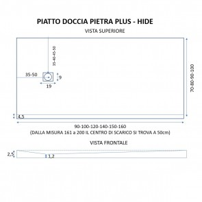 Piatto Doccia PIETRA PLUS Ultra Basso