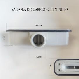 valvola di scarico orizzontale slim, solo 6cm
