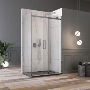 Cabine de douche d'angle H190 porte...