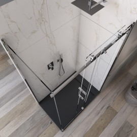 Cabine de douche d'angle H190 porte