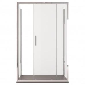 Cabine de douche trois côtés H195 une porte coulissante en cristal d'agate transparent