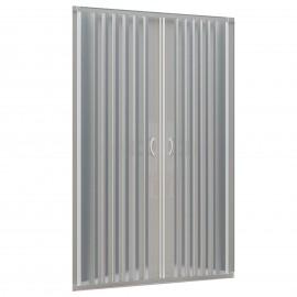 Porte de douche en niche en PVC blanc