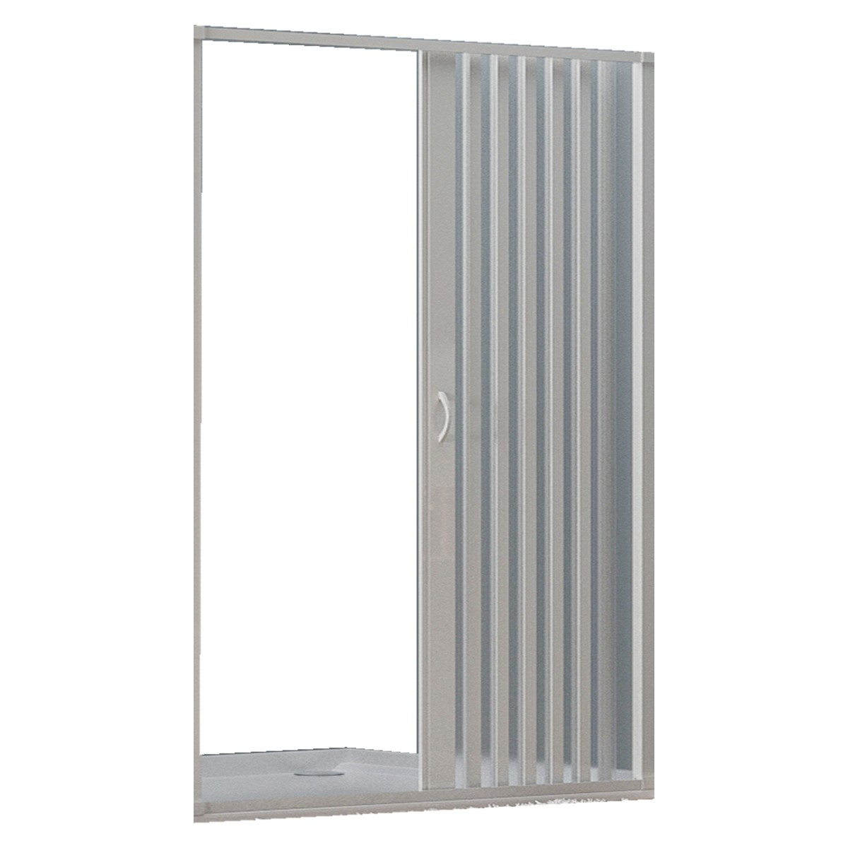 PVC extensible douche ouverture centrale semi-circulaire de la porte 70//80