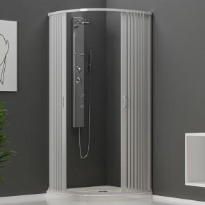 Cabine de douche ouverture centrale...