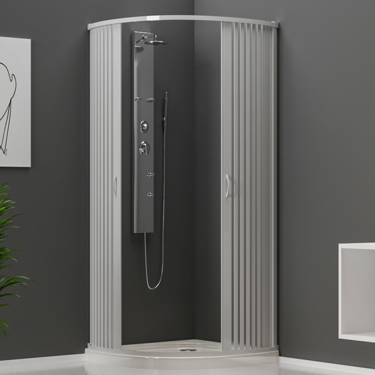 Cabine de douche ouverture centrale