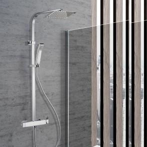 Colonne de douche avec mitigeur carré...