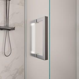 Cabine de douche angle H195 cm avec deux