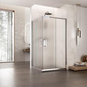 Cabine de douche angle H195 cm avec...