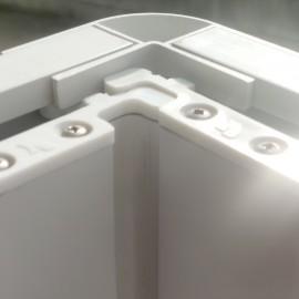 Cabine de douche recto-verso en PVC